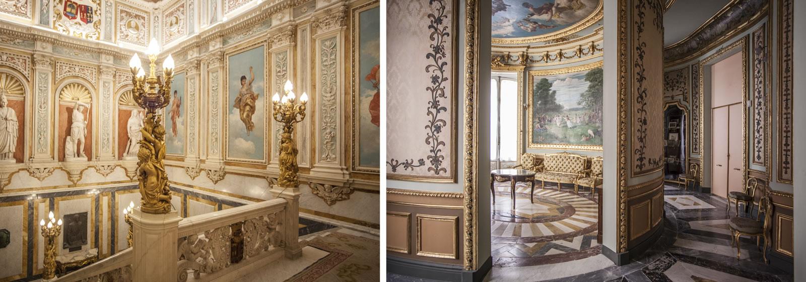 Vistas del interior del Palacio de Santoña,